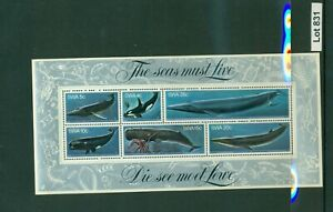831-SWA-The Seas Must Live Mini Sheet-MNH-1980