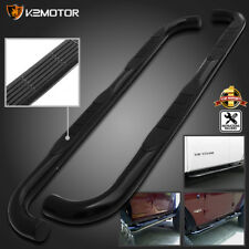 "06-10 Hummer H3 Stainless 3"" Running Boards Side Step Nerf Bar BLACK"