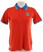 FILA Womens Polo Shirt Size 14 Large Red Cotton  HX10