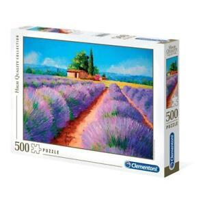 puzzle Clementoni 500 pezzi LAVENDER SCENT HQC High Quality 49x36 35073 OMAGGIO