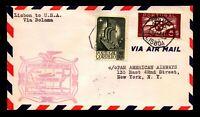 Portugal 1941 F18-22 FFC, Lisbon to USA - L7590