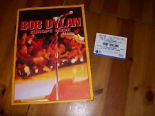BOB DYLAN EUROPE 2002 TOUR CONCERT PROGRAMME PLUS Ticket