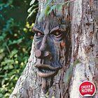 Tree Face Sculpture Ent Spirit Woods Outdoor Old Man Faces Yard Decor Halloween