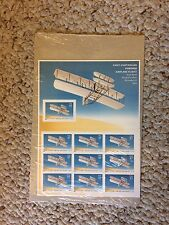 First Controlled Powered Flight  SC 3783 Two Mint Full Pane 37 Cent Booklet