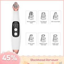 6 In 1 Electric Acne Point Noir Blackhead Vacuum Extractor Tool Face Beauty USB