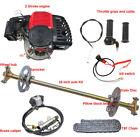 "29"" Go Kart Quad Rear Live Axle Kit + Brake Caliper + 2 Stroke 49cc Engine Motor"