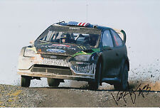Ken Block Hand Signed 12x8 Photo Ford Fiesta Hoonigan Rally 7.