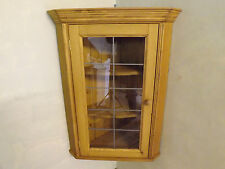 "Pine leaded glazed corner unit made by our own carpenters. 36"" height."