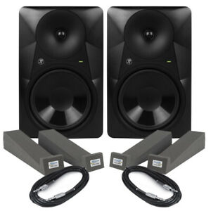 """Mackie MR824 (Pair) 8"""" Active Studio Monitors 170W With Isolation Pads & Cables"""