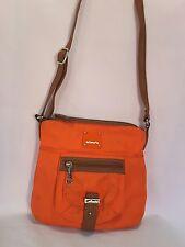 Mimosa orange nylon medium cross body purse