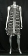 MAX STUDIO NWT Black/White/Red Print Sleeveless Ruffle Hem Shift Dress sz S $128