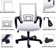 Mid Back Mesh Office Rolling Swivel Chair With Lumbar Support Armrest Ergonomic
