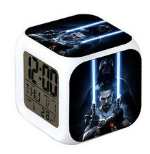 Star Wars Style Digital Alarm Clock LED Light Nightlight Accessories Cool Gift