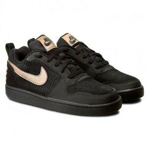 Nike Womens Court Borough Low Prem Black Trainers 861533 002 Multiple Sizes