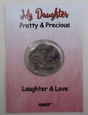 o My daughter pretty & precious laughter love WILD HEART POCKET TOKEN CHARM