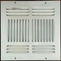 "10""x10"" Square 4 Way Air Register Adjustable Ceiling Wall Duct Size AC/Heat Whit"