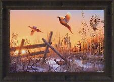 SEASON'S END by Gadamus Zoellick Kloetzke 20x28 FRAMED PRINT S/N L/E Pheasants