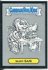 Garbage Pail Kids Chrome Series 1 Pencil Art Base Card 38a SLIMY SAM