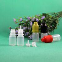 3 ML Plastic Dropper Bottle CRC Child Proof Caps With Long Thin Tips 100 Pcs/Lot