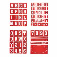 Kitchen Craft Home Made Set of Four Jar Letter and Number Stencils - Assorted