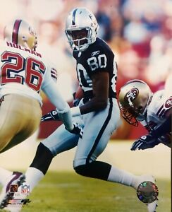 JERRY RICE Oakland Raiders 8X10 ACTION PHOTO Black Jersey