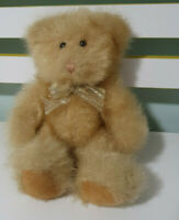PACEKO TRADE CO TEDDY BEAR FLUFFY WITH GOLD AND SILVER BOW 24CM