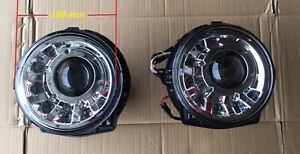 HEAD LAMP SET CHROME W/LED MANSORY Style FOR '1986-'2005 BENZ G-CLASS W463 LHD