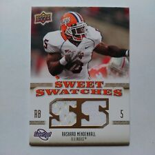 2010 UD Sweet Swatches Rashard Mendenhall Pittsburgh Steelers Illinois Jersey