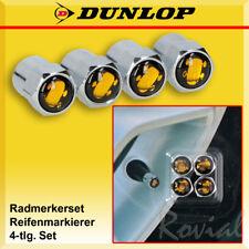 Dunlop Alu Ventilkappen Set 4-tlg Radmerkerset Reifenmarkierer Reifenmarker