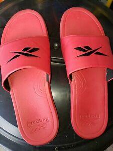 Reebok Sliders Mens Flip Flop Size 12 Red
