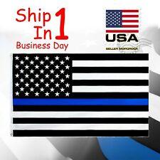 Police Law Enforcement Flag FlagImp Blue Lives Matter 3 x 5ft Usa Thin Blue Line