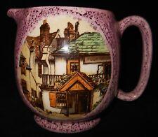 "Vintage SANDLAND WARE Hanley England Ceramic Pink Creamer Pitcher 4 5/8"""