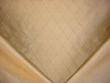 1-3/4Y KRAVET ANTIQUE GOLD SILK DIAMOND LATTICE TRELLIS UPHOLSTERY FABRIC