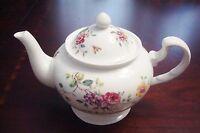 DENTON CHINA Tea set butterflies and roses, teapot and 2cups/saucers [81]