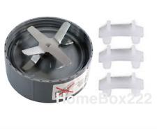 1x Cross Extractor Blade + 3 x Rubber Bush  FOR Nutribullet 900w/600w UK SELLER