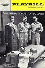 "Sal Mineo ""SOMETHING ABOUT A SOLDIER"" Ralph Meeker 1962 FLOP Premiere Playbill"