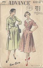 """R376 von /'Edith Kopf/' 1950s Vintage Nähen Muster B32 /"""" Kleid /& Bolero"""