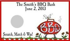 BBQ GRILL Scratch Off Tickets Cards Party Favors Game Personalized Custom