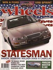 Wheels Oct 93 Statesman Boxster 500SEC E36 318is Calibra 986 Boxster Eunos 800