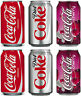 Set of 6 Coca Cola Drink Can Stickers - Coke Ice cream / Catering van Cafe logo
