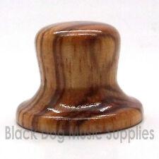 Madera Guitarra Control Top Hat forma Perilla de madera de cebra tono Volumen
