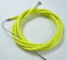 NEW BICYCLE BIKE 1 Brake Cable + 1 Double Sheath Housing NEON YELLOW W/ FREE CAP