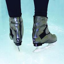 "Insulated ice Skate Cover - Figure Skate Boot Warmers Sk8Wrapsâ""¢ Silver Streakâ""¢"