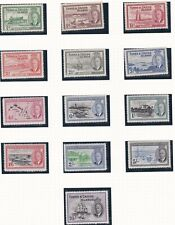 TURKS & CAICOS  1950  S G 221 - 233  SET OF 13  MH
