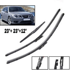 3PCS Front Rear Windscreen Wiper Blades Kit Fit For SAAB 9-3 9.3 Estate 2007-