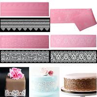 Lace Silicone Mold Mould Sugar Craft Fondant Mat Decorating Baking Tools