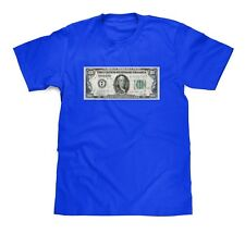 One Hundred Dollar Bill $100 Royal Blue Tee size Small