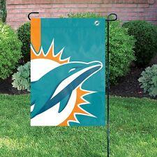 """Miami Dolphins 12 1/2"""" x 18"""" Bold Logo Garden / Mini Flag"""