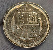 More details for gb 1889 queen victoria. silver shilling very nice - high grade