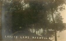c1910 Lovers Lane, Maxwell, Iowa Real Photo Postcard/RPPC